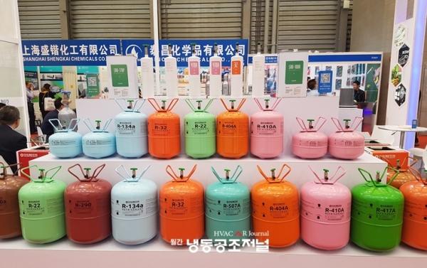 아성알앤지 냉매공급 업체 중국제냉전 부스 전경